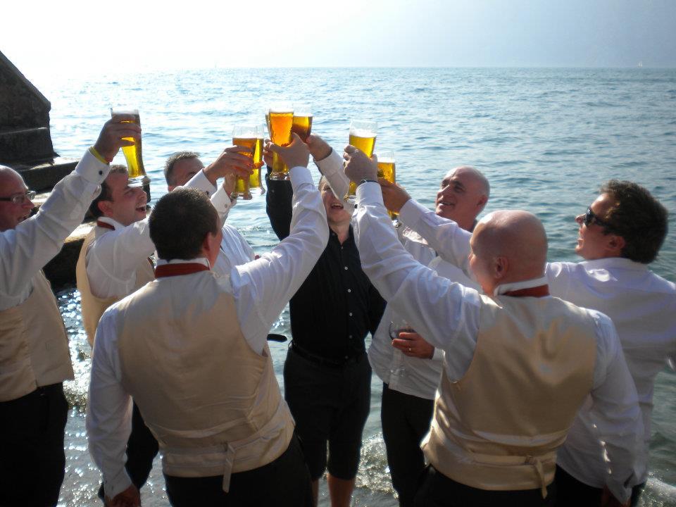 At my mum's wedding in Italy.